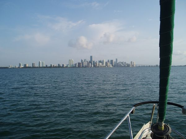 Miami Skyline View from the Boat, Miami, Florida, USA
