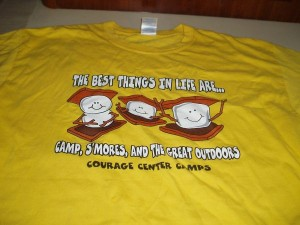 This T-Shirts was from the Courage Center Camps in the USA.