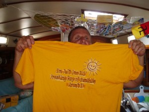 John loves this 33 Cents T-Shirts that he bought in Guatemala.