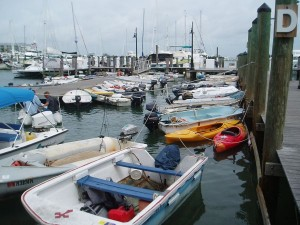 Dinghy Dock at Key West Marina (Docking Cost: US$6.50-Daily. $29-Weekly)