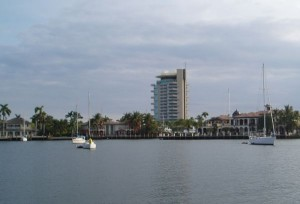 Lake Sylvia Anchorage and Pier 66 Hyatt Hotel (Tall Building) in Fort Lauderdale, FL, USA