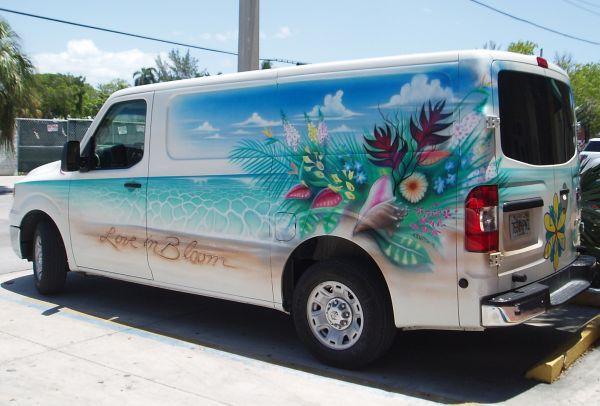 Beautifully Painted Van in Key West, Florida