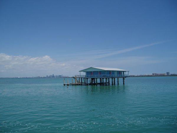 Stilt House in Kay Biscayne Bay, Miami, Florida, USA