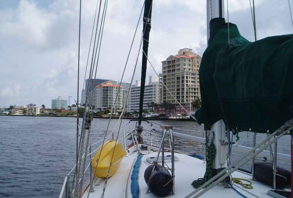 Anchored at North Side of Las Olas Bridge, Fort Lauderdale, FL, USA