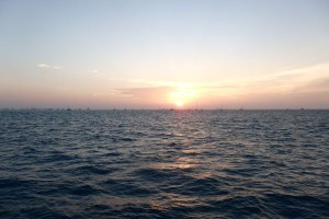 First Sunset View in USA since December 2014, Key West Anchorage, Florida