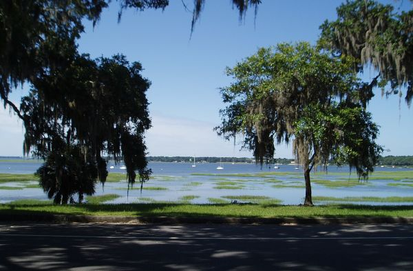 Anchorage Near Beaufort Downtown Marina, South Carolina, USA