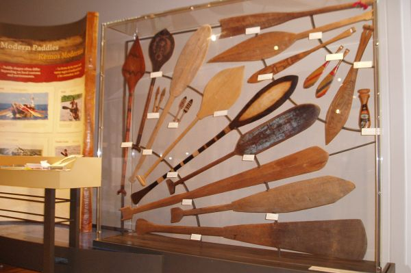 These modern paddles, from all over the Americas, are still part of indigenous cultures today.