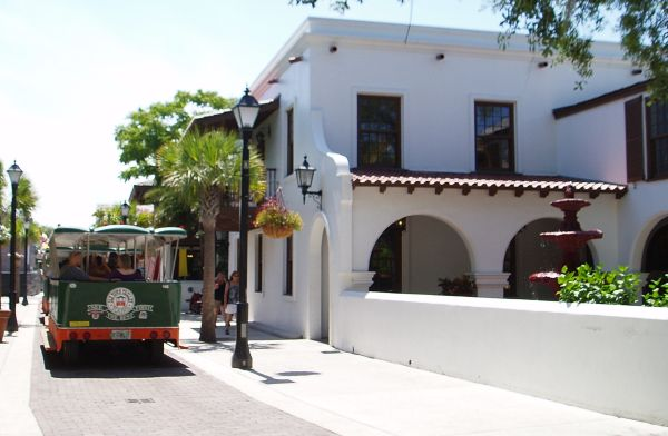 Trolley in Saint Augustine, Florida, USA