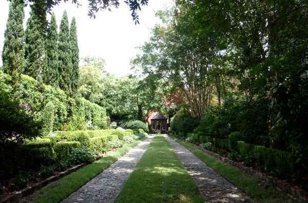 Garden of an Old House in Charleston, SC, USA