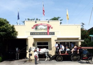 Tourists on Carriage Ride in Charleston, SC, USA