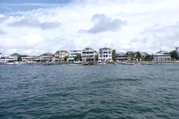 Waterfront Houses Near Wrightsville Beach, North Carolina, USA
