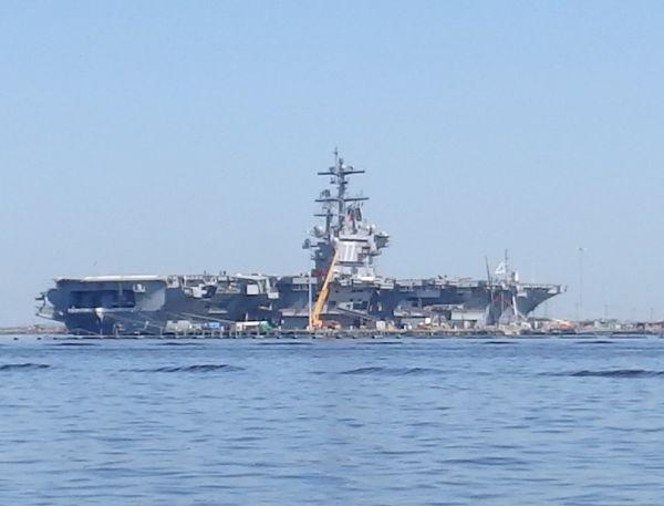 "Aircraft Carrier ""USS George H.W. Bush"", Norfolk, Virginia, USA"