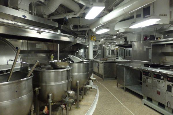 Kitchen, Battleship USS Wisconsin, Norfolk, Virginia, USA