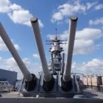 Main Guns (16 Inches) on USS Battleship Wisconsin, Norfolk, Virginia, USA