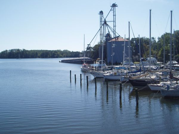 Grain Elevator next to Kinsale Harbour Yacht Club, Virginia, USA