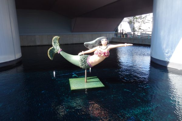 Cute Mermaid Statue, Nauticus, Norfolk, Virginia, USA