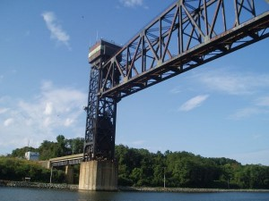 Railroad Bridge in C & D Canal (Chesapeake/Maryland and Delaware Canal), USA