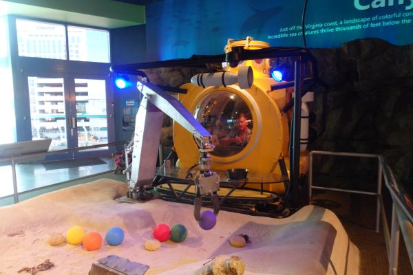 Underwater Robot Simulation, Nauticus Museum, Norfolk, Virginia, USA