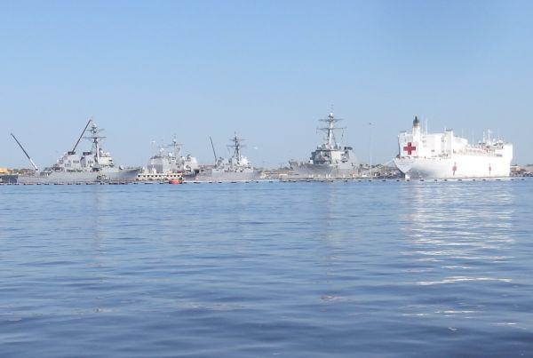 Various Navy Ships, Norfolk, Virginia, USA