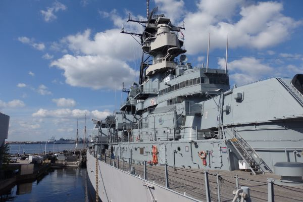USS Battleship Wisconsin, Norfolk, Virginia, USA