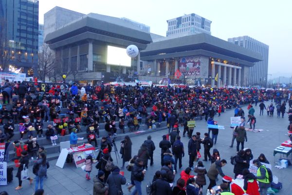 Anti-President Rally on December 24, 2016, Seoul, Korea