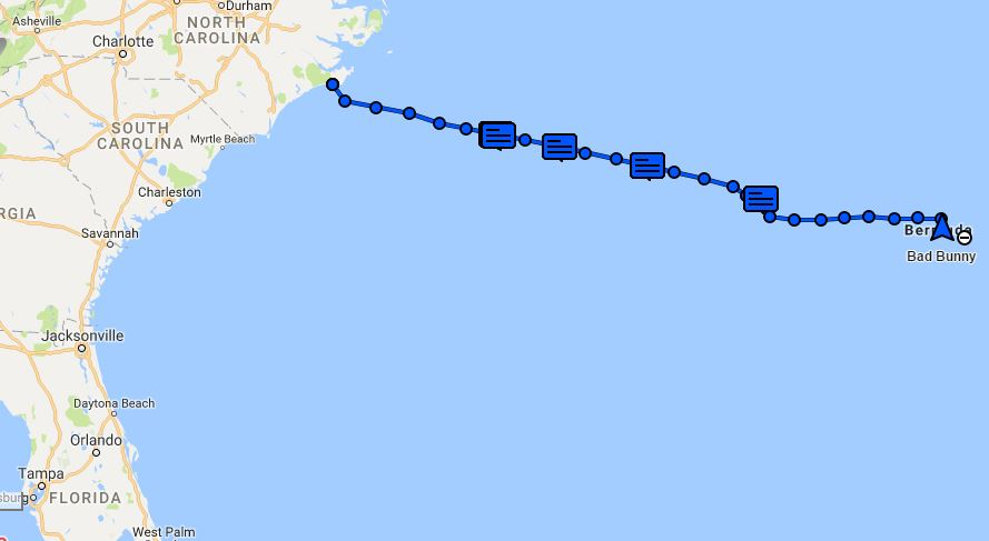 Tracking Map (Morehead City, NC to Bermuda) – Traveling and Sailing ...