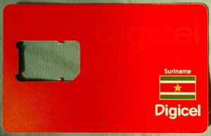 Internet SIM Card in Suriname – Digicel Prepaid SIM Card – Traveling